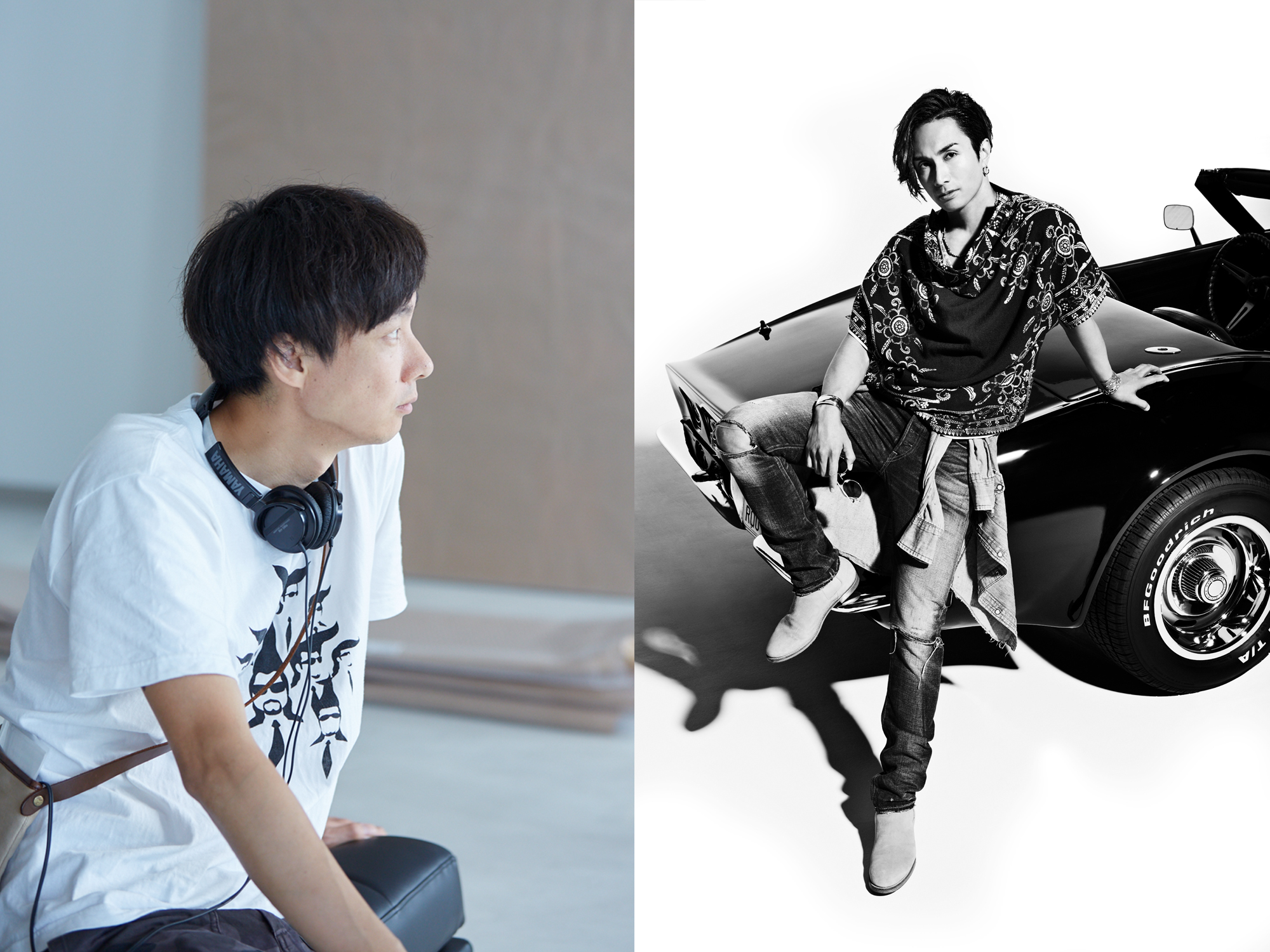 左から、松永大司監督、橘ケンチ
