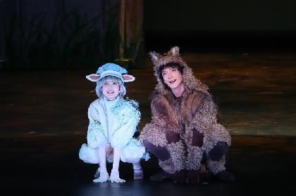 子どもも大人も楽しめる、人気絵本が原作の音楽劇『あらしのよるに』囲み取材&ゲネプロレポート