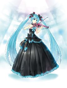KEIが黒ドレス姿のミク描いた「初音ミクシンフォニー」ビジュアル