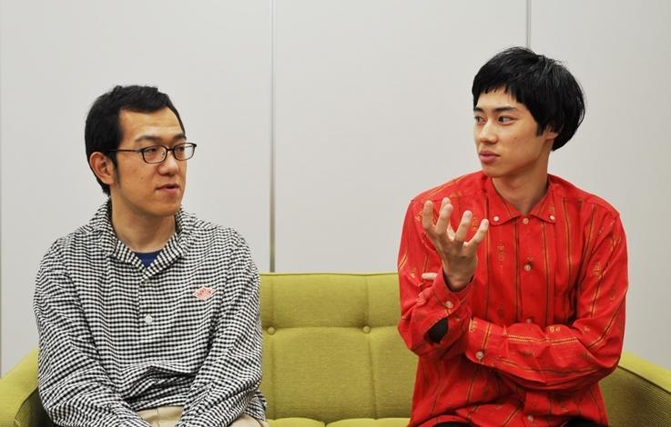 (左から)上田誠、戸塚純貴。
