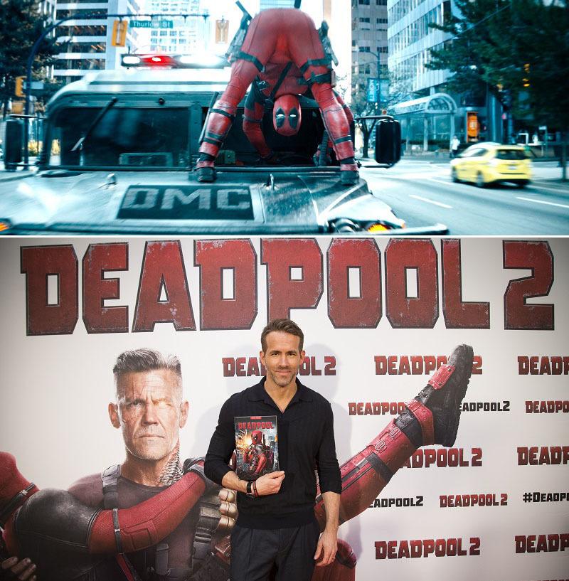 デッドプール(上)とライアン・レイノルズ(下) (C)2018Twentieth Century Fox Film Corporation