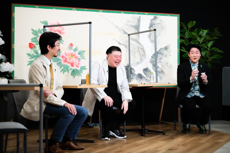 図夢歌舞伎『弥次喜多』NGシーンを振り返る笑三郎さん。