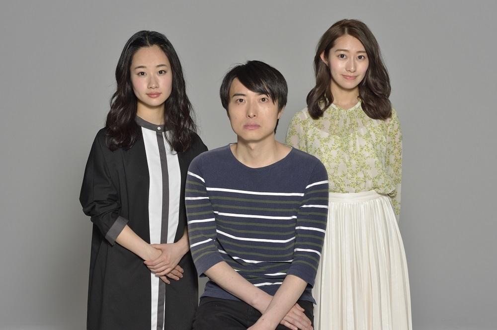 (右から)桜井玲香、中屋敷法仁、藤間爽子