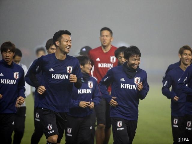 11月12日(月)に新たに招集された日本代表が初練習を行った (c)JFA