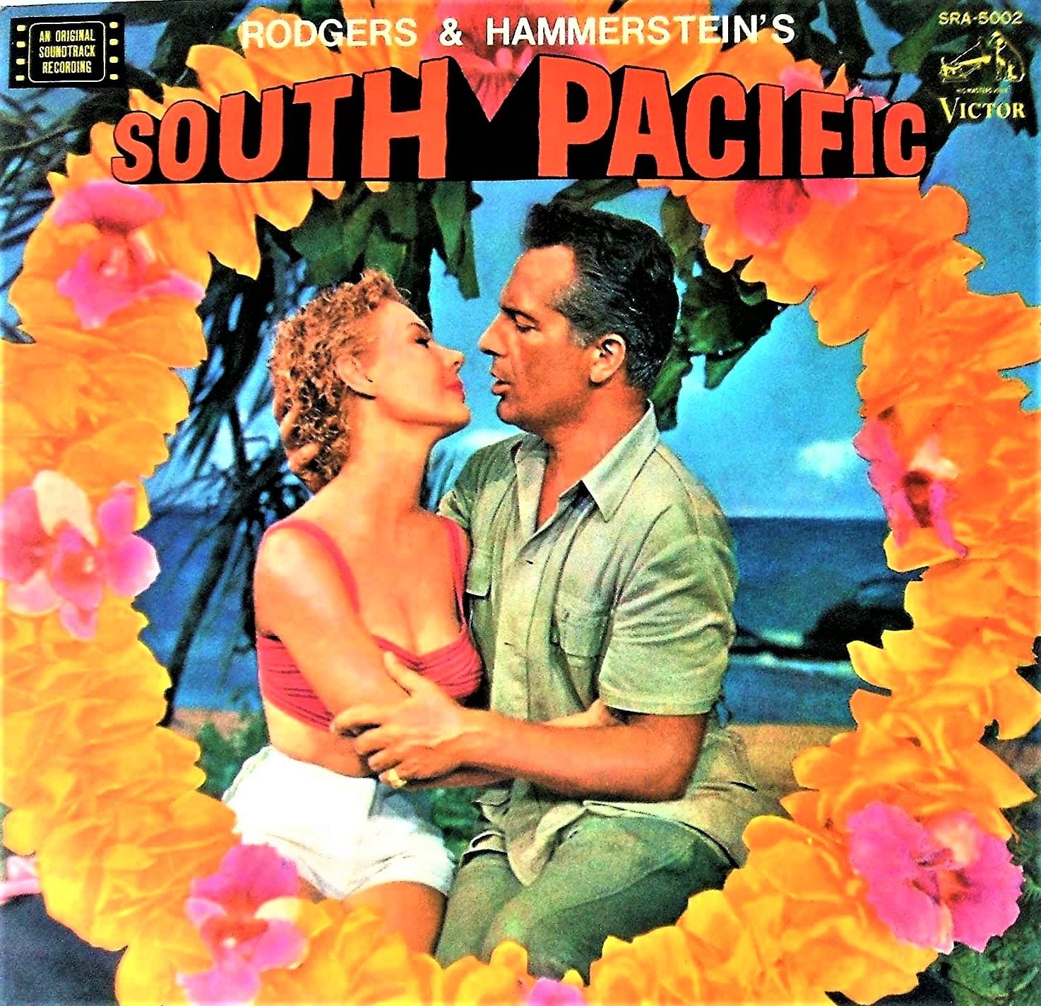 映画版『南太平洋』(1958年)のサントラLP。現在は、輸入盤CDやダウンロードで購入可だ。