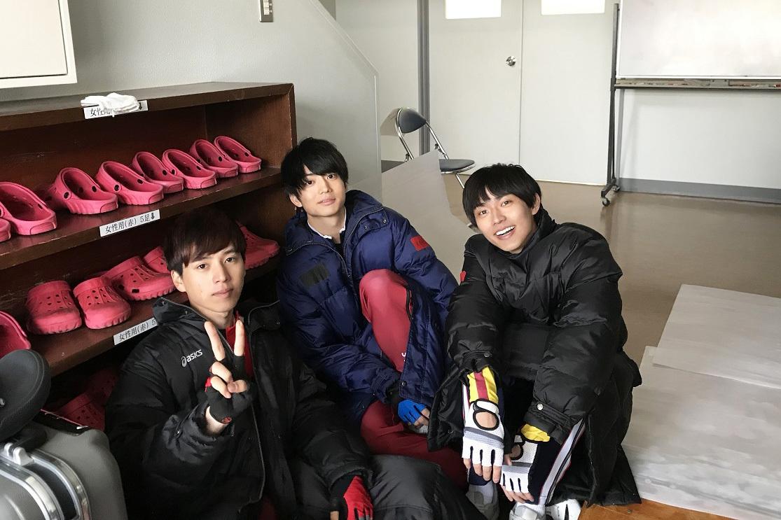 左から、坂東龍汰、伊藤健太郎、永瀬廉(King & Prince) (C)2020映画「弱虫ペダル」製作委員会 (C)渡辺航(秋田書店)2008