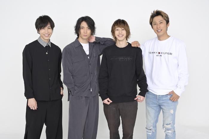 (左から)田中稔彦、校條拳太朗、杉江大志、小笠原健