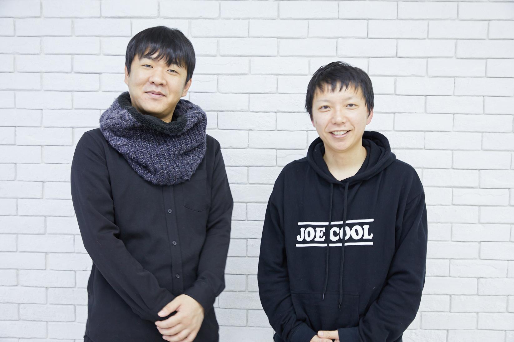 左から、押切蓮介氏(原作者)、内藤瑛亮監督 撮影=岩間辰徳