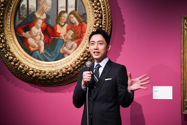 本展の音声ガイドでナビゲーターを担当した俳優の小泉孝太郎