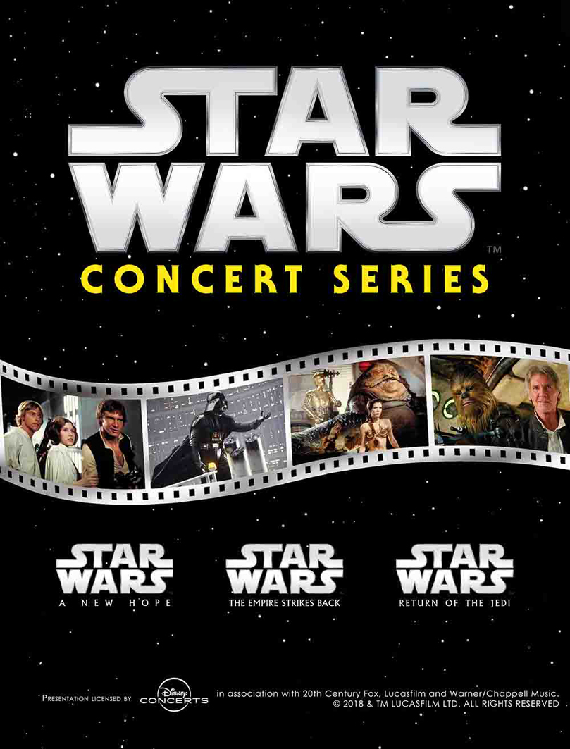 Presentation licensed by DISNEY CONCERTS in association with 20th Century Fox, Lucasfilm and Warner/Chappell Music. (C)2018 & TM LUCASFILM LTD. ALL RIGHTS RESERVED(C)DISNEY