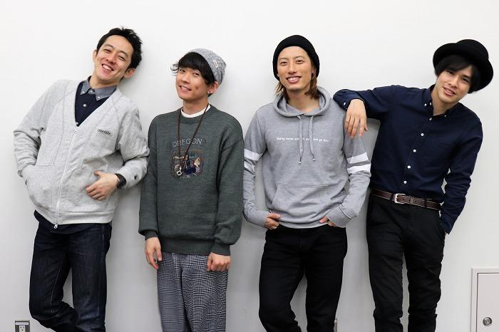 梅棒(左から)梅澤裕介、野田裕貴、楢木和也、遠山晶司
