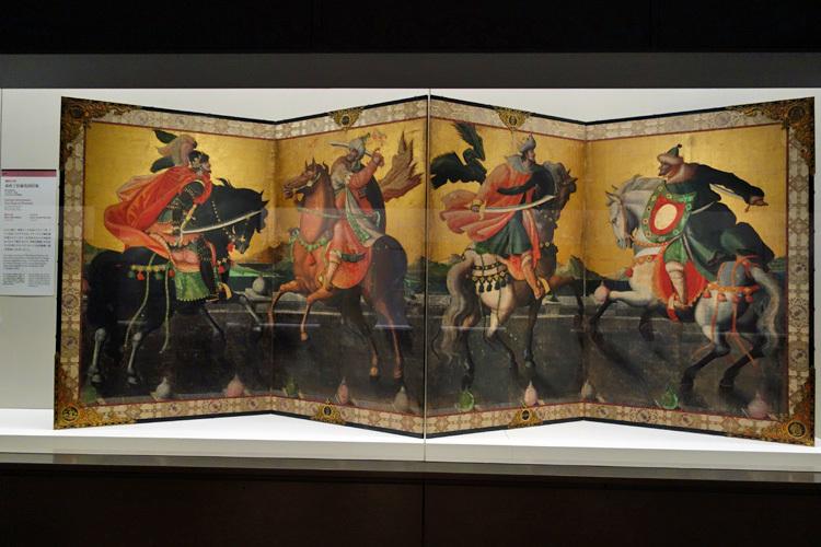 重要文化財《泰西王侯騎馬図屛風》江戸時代・17世紀 兵庫・神戸市立博物館(通期展示)