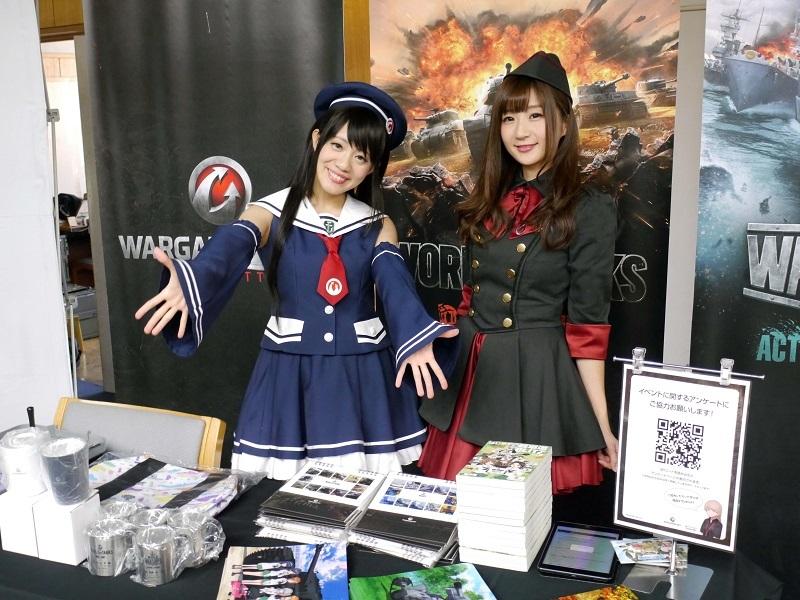 商店街にほど近い大洗文化センターでは、ガルパンともコラボしているオンラインタンクバトルゲーム『World of Tanks』のイベントがあんこう祭前日より開催。トークイベントやゲームの試遊などで盛り上がっていた。