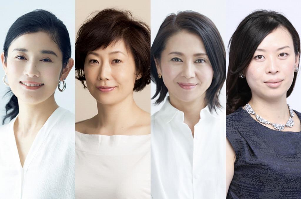 (左から)石田ひかり、峯村リエ、小泉今日子、ペヤンヌマキ