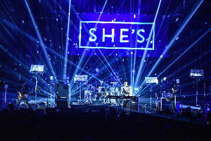 SHE'Sがアルバム『Now & Then』を引っさげた初のZeppワンマンに刻んだもの