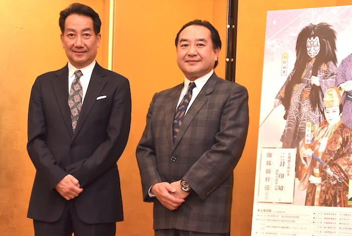 中村扇雀、中村鴈治郎(左から)