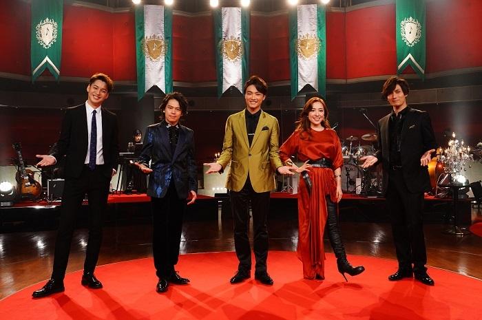 (左から)大野拓朗、中川晃教、井上芳雄、平原綾香、加藤和樹