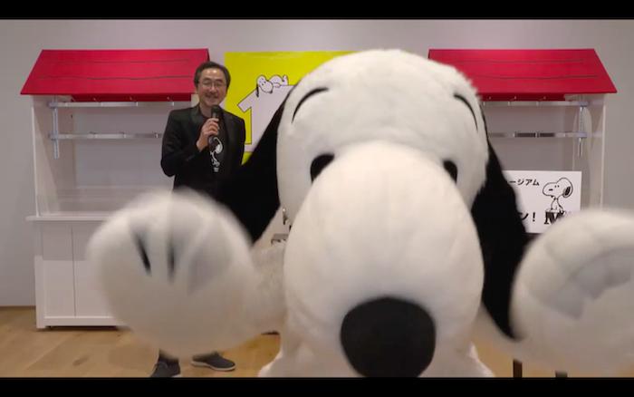 中山館長「スヌーピー、ちょっとカメラ寄りすぎ(笑)!」