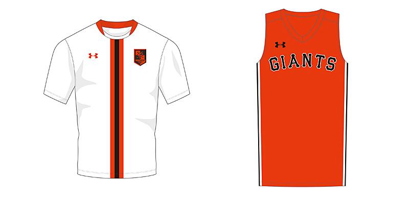 サッカー版のユニホーム型シャツ / バスケットボール版のユニホーム型シャツ