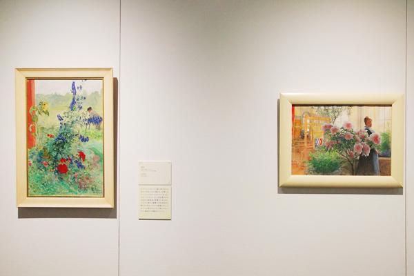 浮世絵に影響された絵画 右:《アザレアの花》 左:《祖父》
