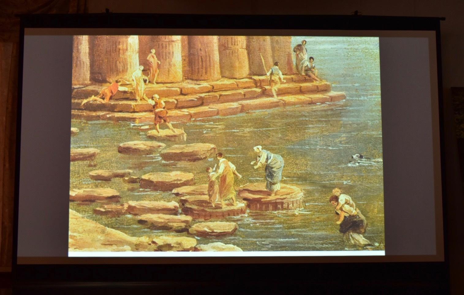 ユベール・ロベール 《水に囲まれた神殿》部分