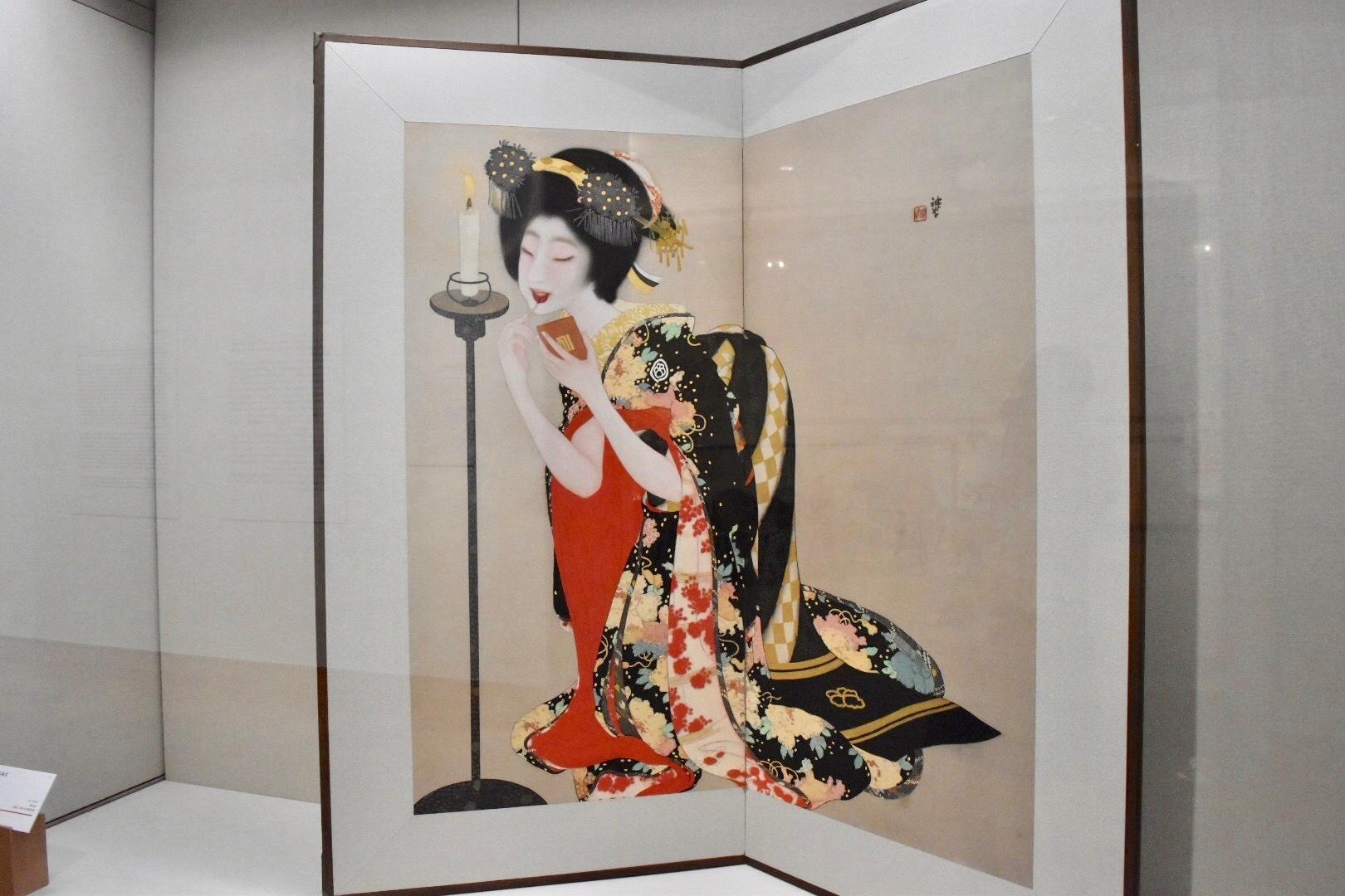 岡本神草 《口紅》 大正7(1918)年 京都市立芸術大学芸術資料館