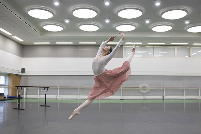 Fumi Kaneko in rehearsal for Don Quixote, The Royal Ballet
