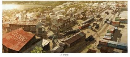 撮影も自由『シン・エヴァ劇場版』制作に使用された「第3村ミニチュアセット」展示を開始