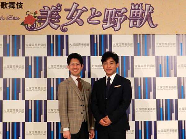 (左から)中村壱太郎・片岡愛之助
