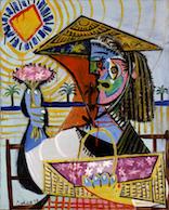 パブロ・ピカソ《花売り》1937年油彩/カンヴァスポーラ美術館蔵 ©2017-Succession Pablo Picasso-SPDA (JAPAN)