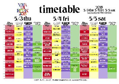 『VIVA LA ROCK 2018』のタイムテーブルが解禁  スカパラのステージはTAKUMA、細美ら参加のスペシャルセットに