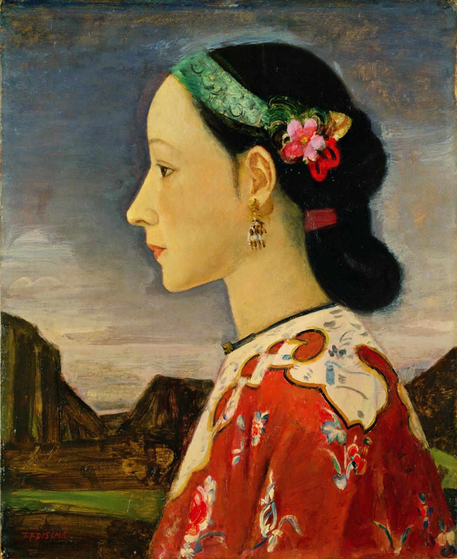 藤島武二《女の横顔》1926-1927(大正15-昭和2)年