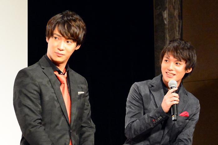 左から味方良介、横田龍儀 舞台「MOJO」製作発表記者会見