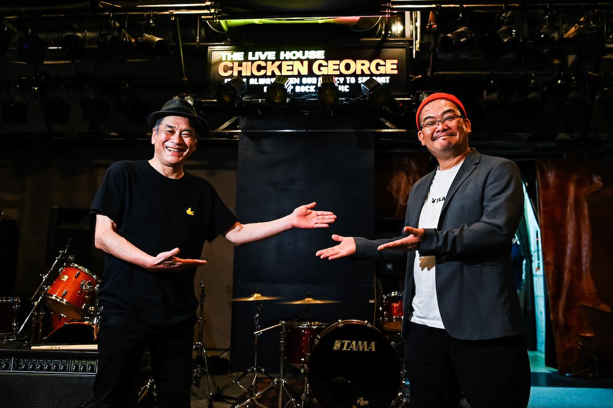 (左)チキンジョージ・専務取締役 児島勝、(右)劇団赤鬼・川浪ナミヲ