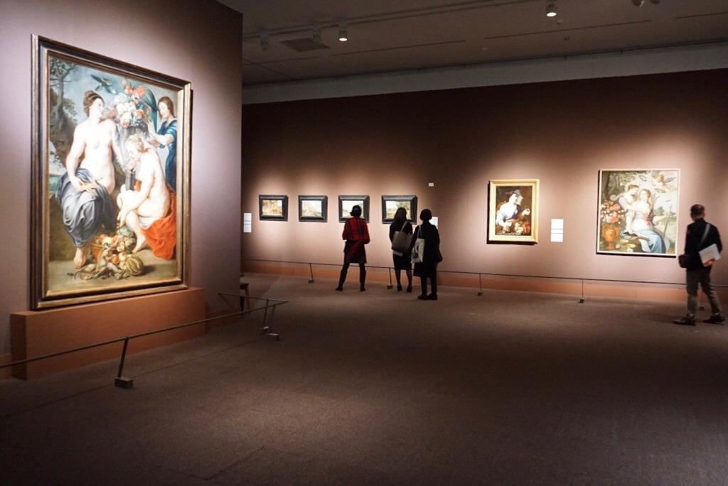《豊穣の角をもつ三人のニンフ》ペーテル・パウル・ルーベンスと工房、フランス・スナイデルス  制作年不詳