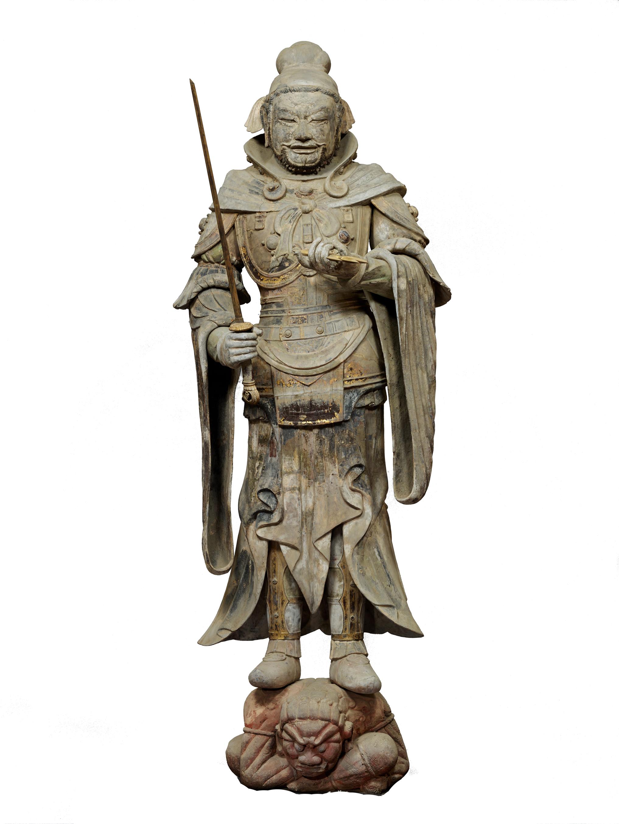 重要文化財 持国天立像(四天王像のうち) 飛鳥時代・7世紀 奈良・當麻寺蔵 画像提供:奈良国立博物館(撮影:佐々木香輔)