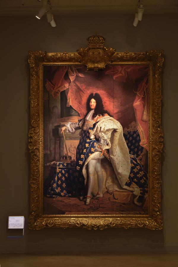 リゴー《ルイ14世の肖像》 ルーヴル美術館所蔵 ※写真は大塚国際美術館の展示作品を撮影したもの