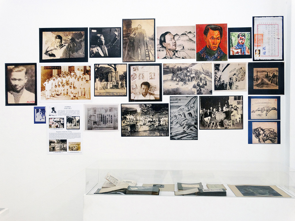 コウ・グワンハウ《シュ・ティエシェン――アーカイブから見る作家の100年》2014年 南洋理工大学CCAレジデンシー・スタジオ、シンガポールの印刷物、資料現物 サイズ可変 所蔵:シュ・ティエシェン&シンガポール・アート・アーカイブ・プロジェクト 撮影:Koh Nguang How