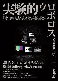 廃墟ギャラリーで、Tatsunori Hosoi個展『実験的ウロボロス』 インスタレーションと映像作品を展示