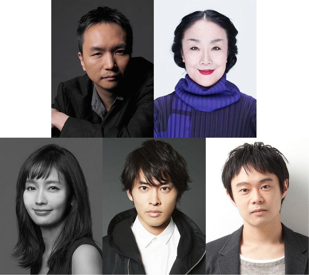 (左上段から)長塚圭史、白石加代子(左下段から)中村ゆり、平埜生成、尾上寛之