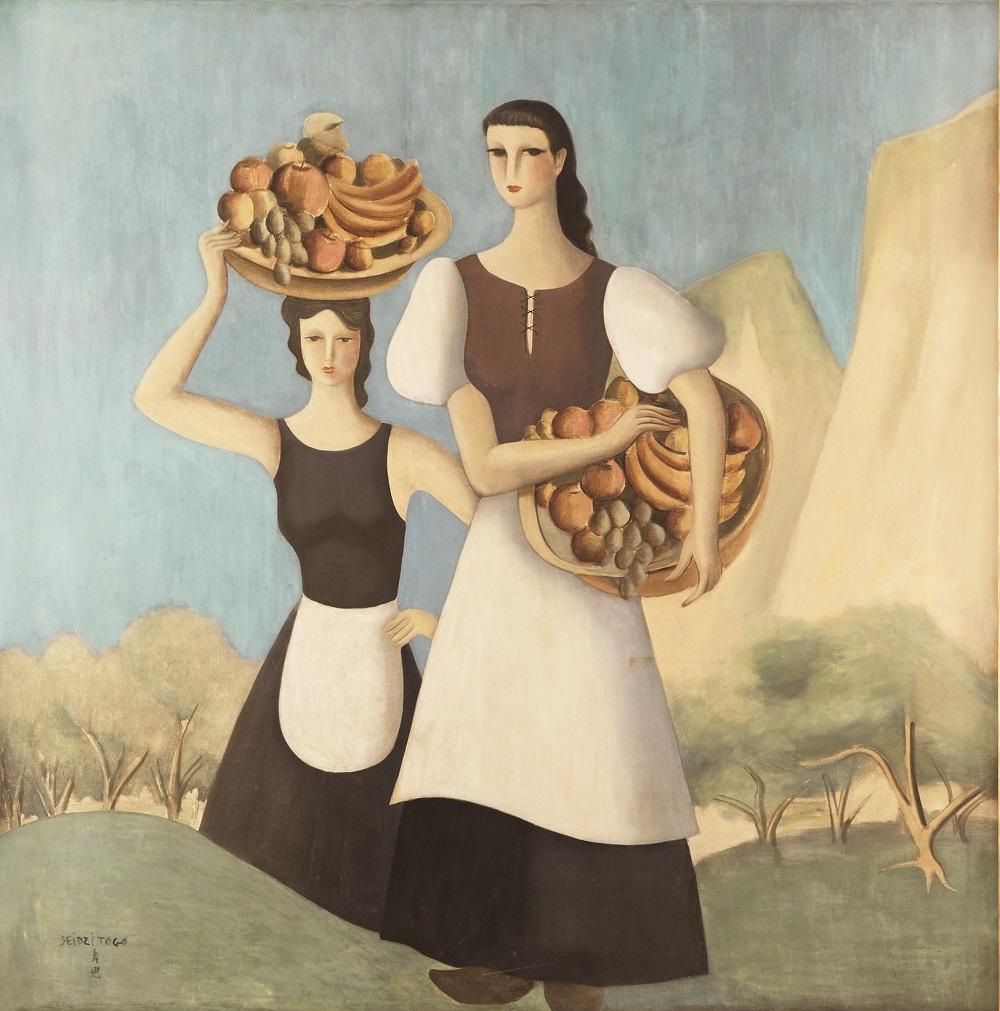 《山の幸》、1936年、油彩・キャンヴァス、173.0×173.8cm、シェラトン都ホテル大阪