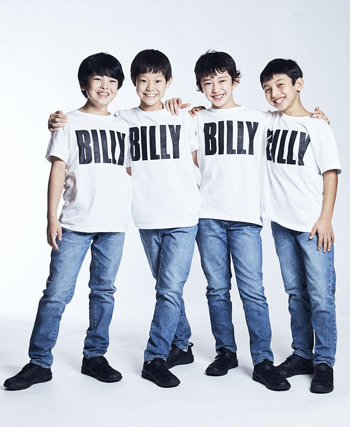 新ビリー・エリオット役の4人:(左から)川口 調、利田太一、中村海琉、渡部出日寿