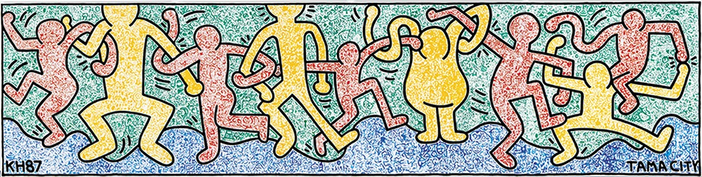 My Town, 1987, Tama City Cultural Foundation,  All Keith Haring Artwork (C) Keith Haring Foundation  Courtesy of Nakamura Keith Haring Collection.