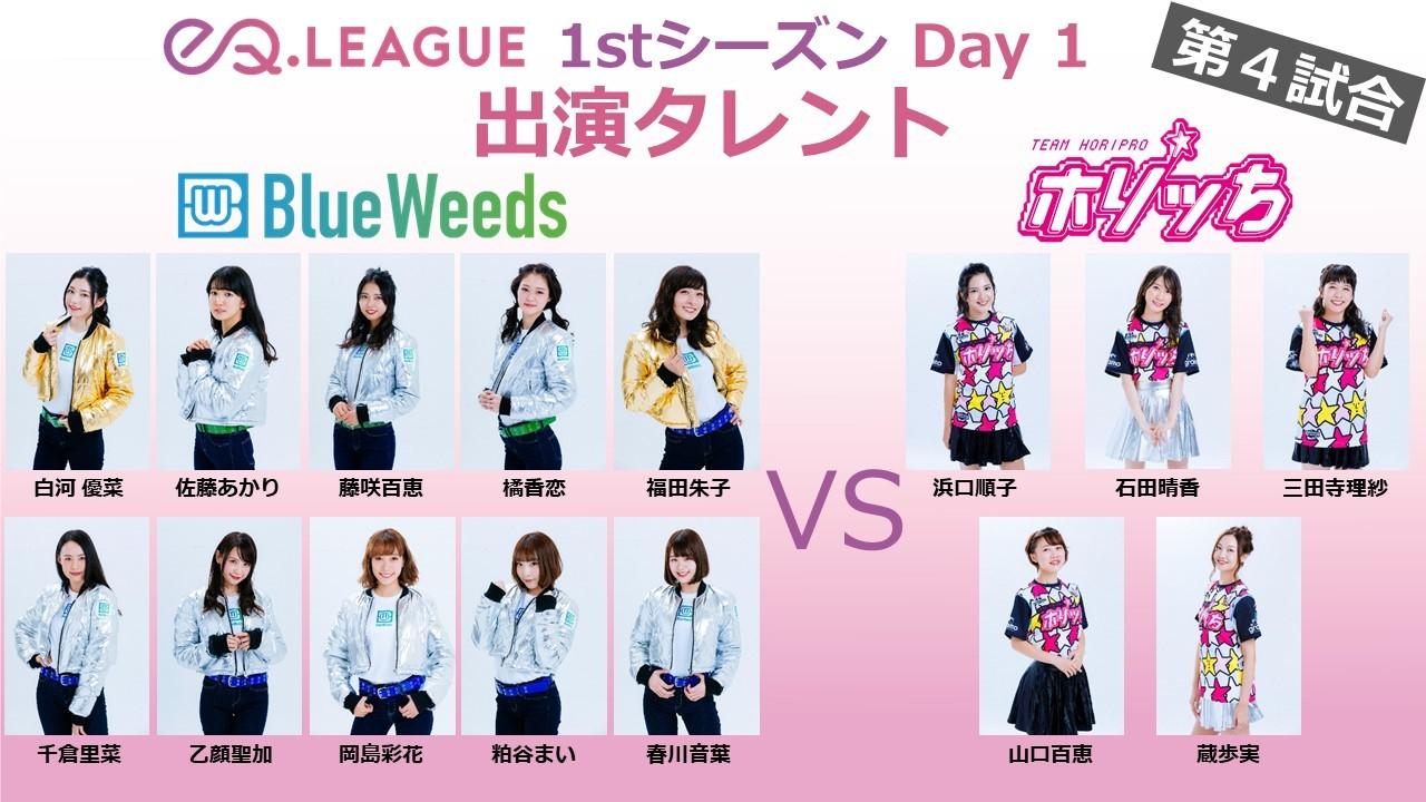 第4試合:BlueWeeds VS ホリッち