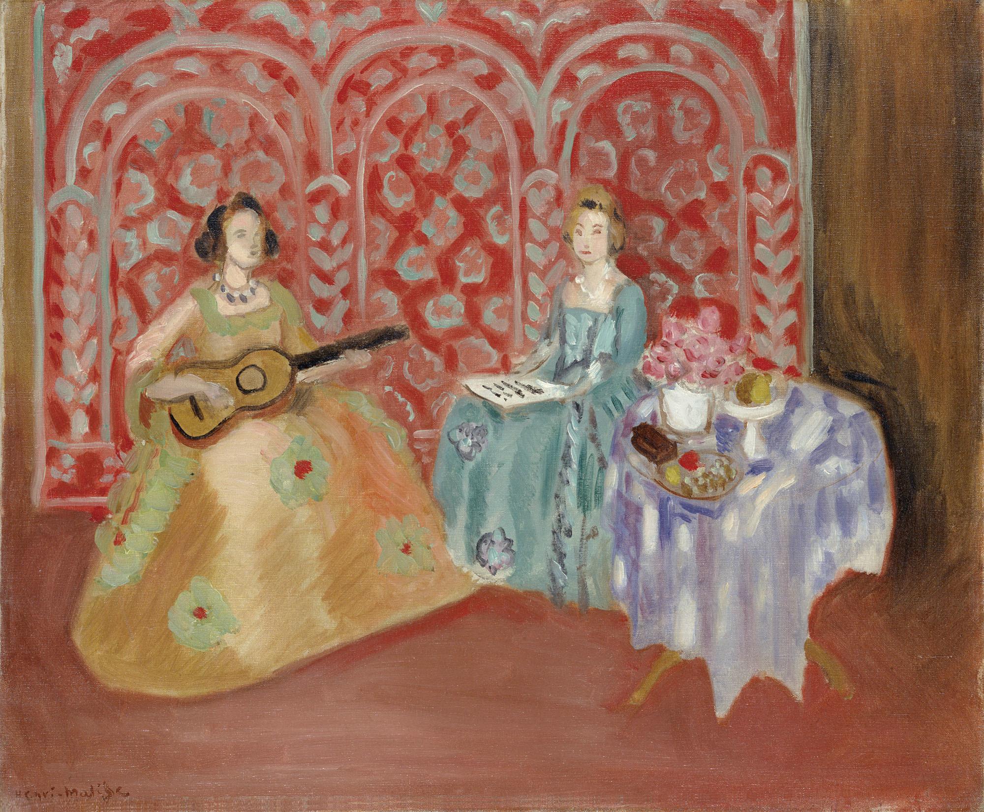 アンリ・マティス《室内:二人の音楽家》1923年 ポーラ美術館