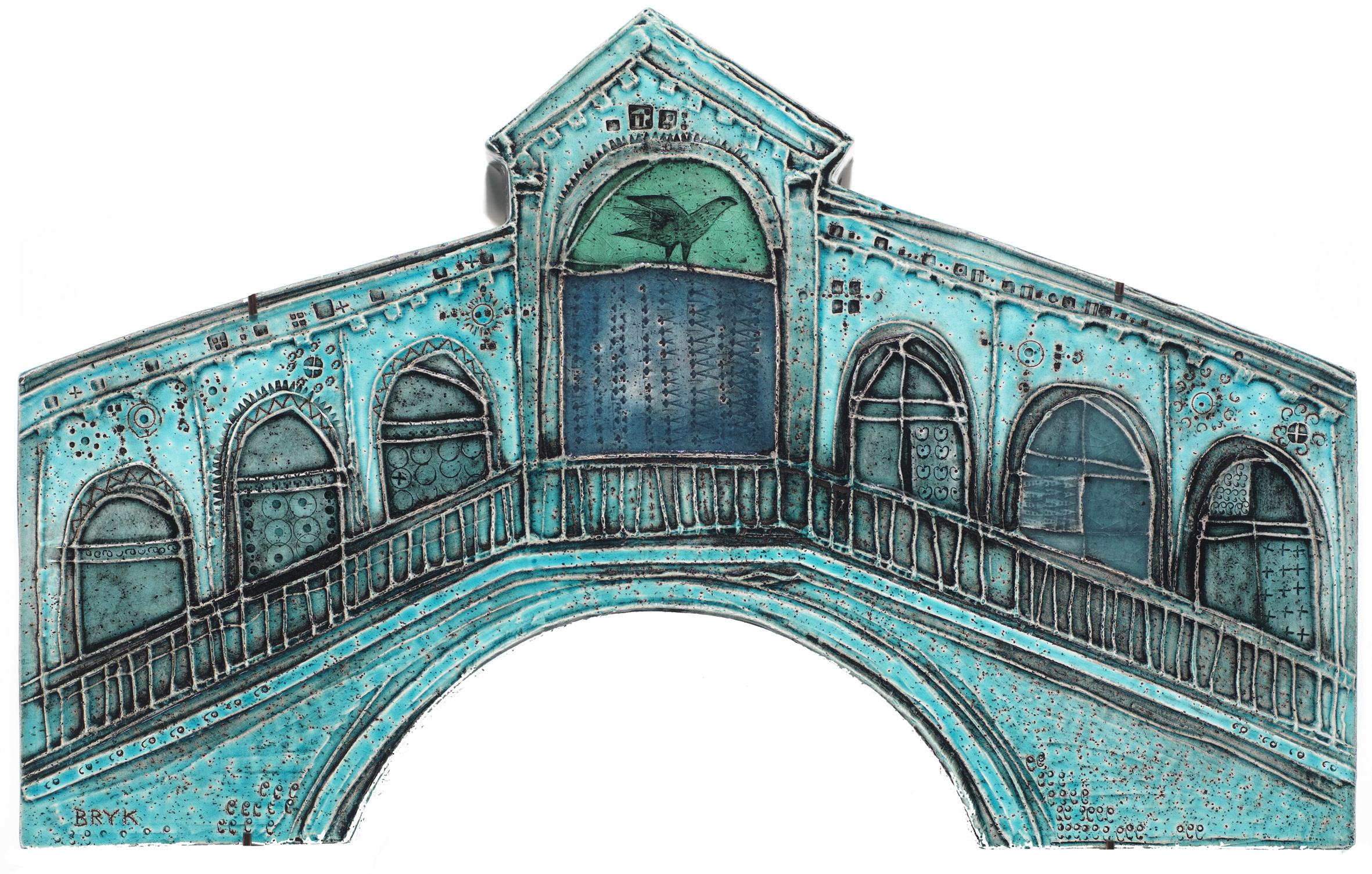 《ヴェネチアの宮殿:リアルト橋》1953年、タピオ・ヴィルカラ ルート・ブリュック財団蔵 Tapio Wirkkala Rut Bryk Foundation's Collection / EMMA –  Espoo Museum of Modern Art (C)KUVASTO, Helsinki & JASPAR, Tokyo, 2018 C2531