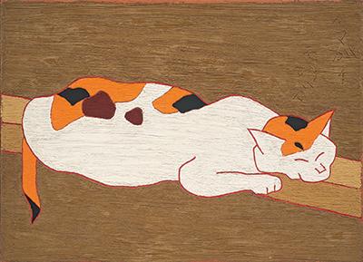 熊谷守一 《猫》 1965年 愛知県美術館 木村定三コレクション