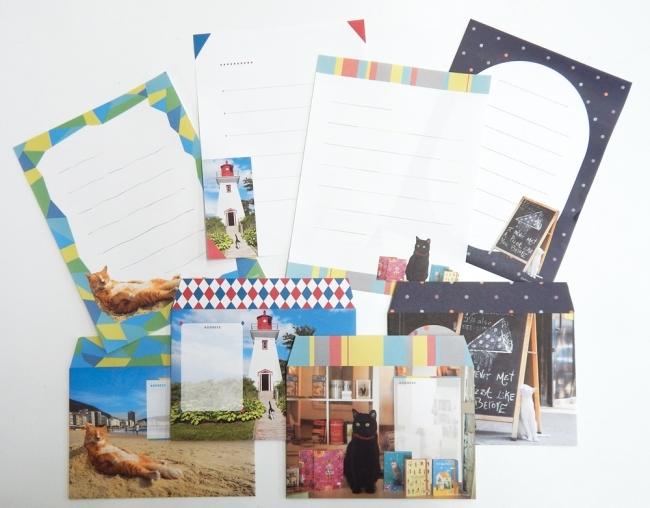 4種の絵柄がセットになったスペシャルレターセット リオデジャネイロ・ニューヨーク・プリンスエドワード島・スペインのをイメージして制作 レターセット 本体800円+税