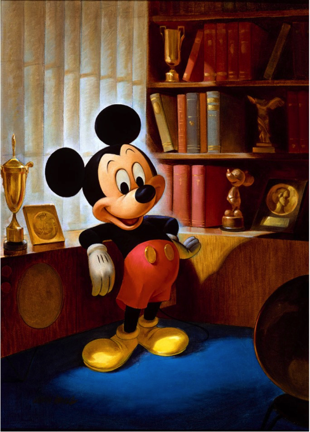 ジョン・ヘンチ画 ミッキーマウスのポートレート(1953 年)