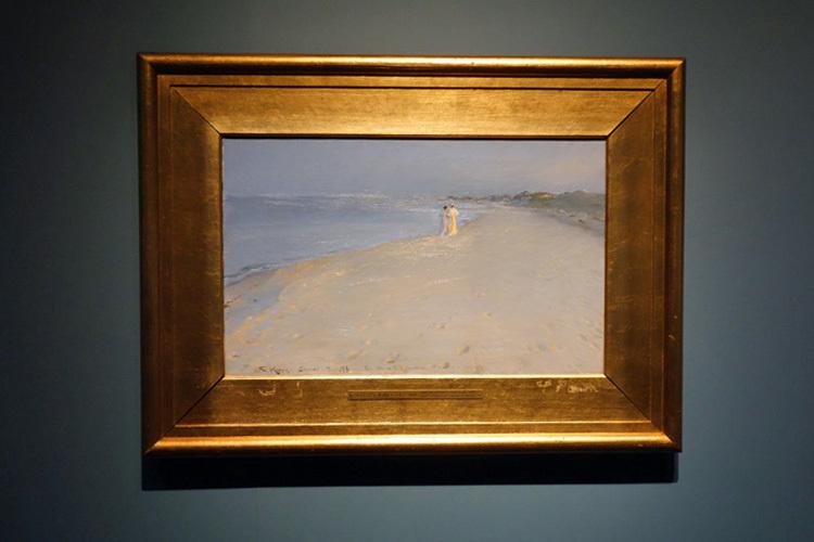 ピーザ・スィヴェリーン・クロイア《スケーイン南海岸の夏の夕べ、アナ・アンガとマリーイ・クロイア》 1893年 ヒアシュプロング・コレクション
